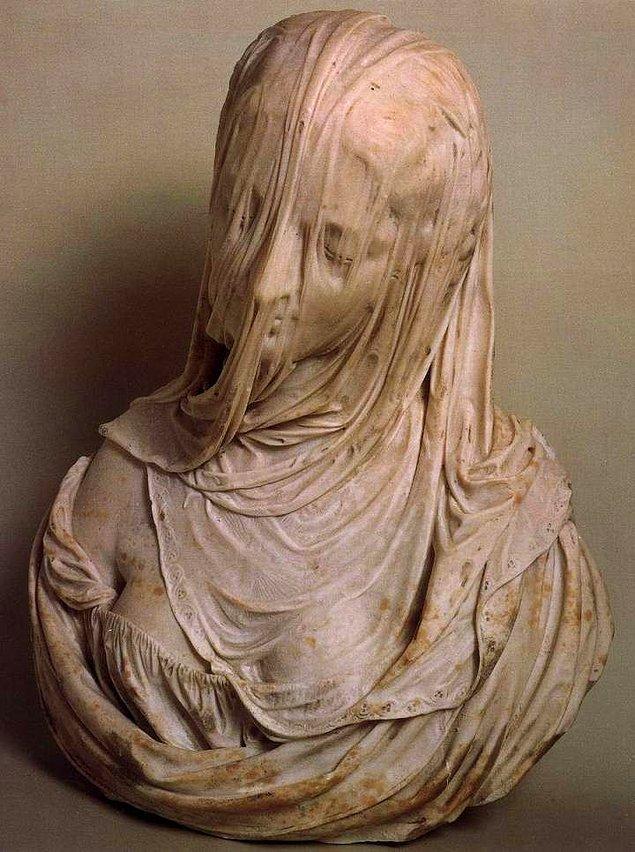 11. Bust of a Veiled Woman (Puritas), Antonio Corradini, 1717.