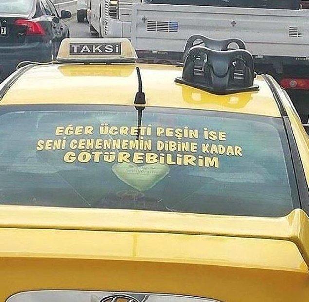 6. Taksici abi, sence de çok açık olmamış mı?
