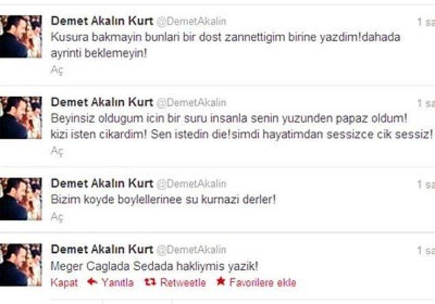İşte bu tweetlerle Demet-Alişan kavgasının başlangıcına şahit olmuştuk.