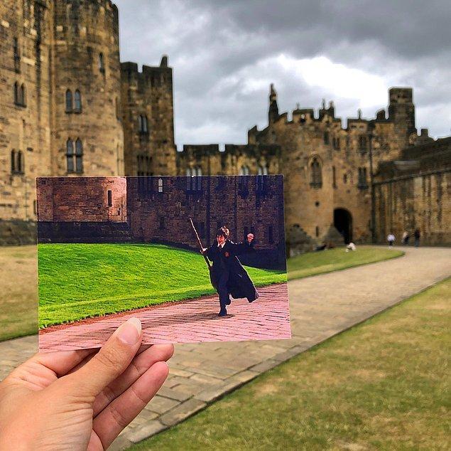 Hogwarts için Northumberland'de bulunan Alnwick Kalesi'nin kullanıldığı Harry Potter!