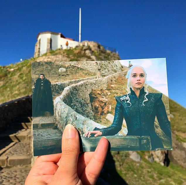 İspanya'da bulunan Gaztelugatxe Adası'nda Daenerys Targaryen!