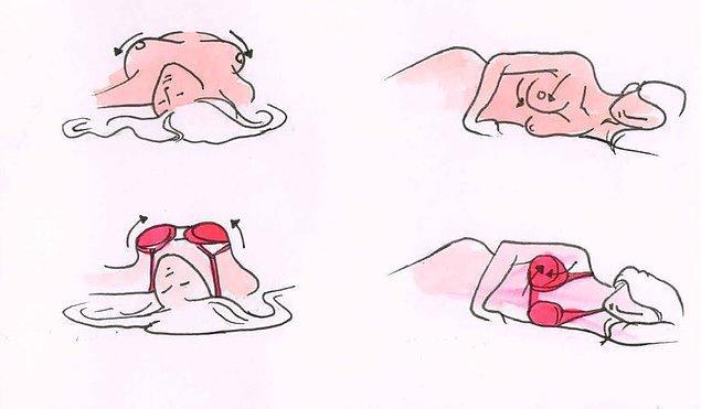 11. Sütyenle uyumayın.