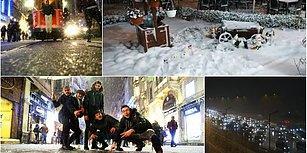 İstanbul Beyaz Bir Pazar Gününe Uyandı: Objektiflere Yansıyan 14 Fotoğraf ile Şehirden Kar Manzaraları