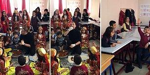 Türkiye'nin Fenomen Öğretmeni Bu Defa Minik Öğrencileriyle Çiğ Köfte Partisi Yapıp Hep Bir Ağızdan 'Nemrudun Kızı' Söyledi