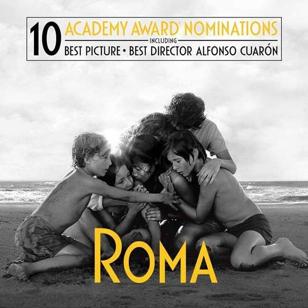"""Netflix yapımı """"Roma"""" ayrıca """"En İyi Yabancı Dilde Film""""  ve """"En İyi Sinematografi"""" ödüllerinin de sahibi oldu."""