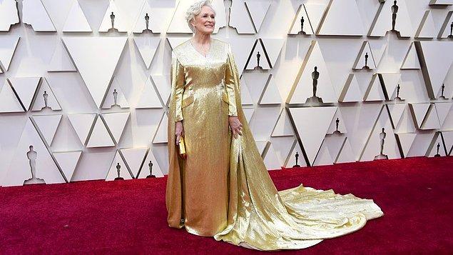 """Gecenin kaybedeni: """"The Wife""""ta sergilediği performans ile senenin favorisi  olarak gösterilen Glenn Close, 7. adaylığında da Oscar kazanamadı."""