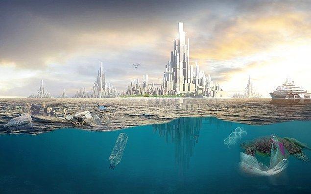 Bonus: Plastik çöplerinden kurulma yüzen şehir