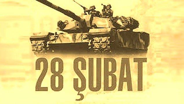 1997: Türkiye Millî Güvenlik Kurulu'nun 9 saat süren toplantısında 28 Şubat süreci olarak adlandırılan kararlar alındı.