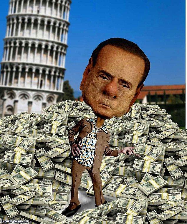 """Soruşturmayı yürüten savcı, Berlusconi'nin sadece Faslı güzele 7.8 milyon dolar """"hediye ettiğini"""" tespit etti."""