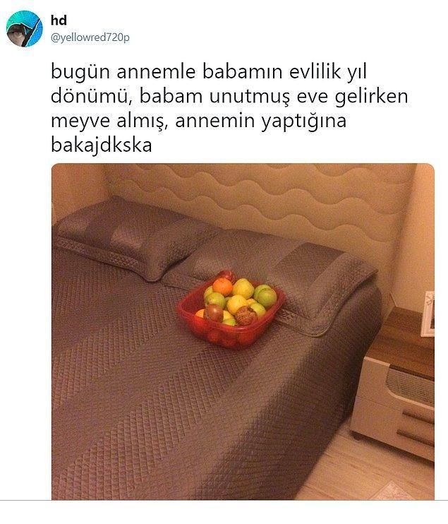 9. Meyvelerle uyurma keyfi.