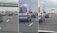 Ambulansa Yol Vermemek İçin Harcadığı Çabayla Magandalıkta Çığır Açan Şoför!