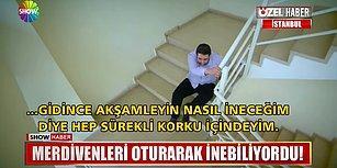 Merdiven Korkusu Yüzünden Merdivenleri Oturarak İnip Çıkan Adam