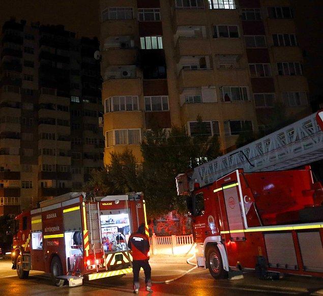 Yangın diğer dairelere sıçramadan söndürüldü