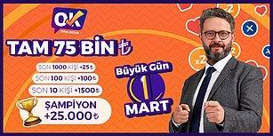 Bugün Büyük Gün: Oyna Kazan'da Saat 14:00 ve 18:00'da 12.500 TL, 21:30'da ise 100.000 TL Dağıtılacak!