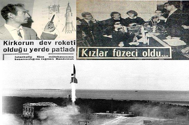 Dernek üyeleri aynı yıl içerisinde biri 150 metre diğeri 300 metreye kadar çıkan ve paraşütle yere inebilen roketler yapıp fırlattılar. Tam o sıralarda derneğe İTÜ Makine Mühendisliği bölümünde görevli bir akademisyen de üye oldu.