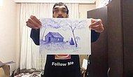 Doğuştan İşitme Engelli ve %78 Şekil Bozukluğu Olan Genç Ressam Alper'in Yaptığı Muazzam Çizimler