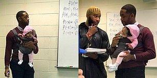 Öğrencisinin Sınıfa Getirdiği Küçük Bebeğiyle İlgilenip Aynı Anda Ders İşleyerek Kalpleri Kazanan Öğretmen!
