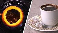 Yeni Trend Artık Bu! Portakal Kabuğunda Türk Kahvesi Nasıl Yapılır?