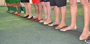 Yurttan 8 Mart Manzaraları: Bir Grup Erkek 'Topuklu Ayakkabı Giyerek' Kadın Futbolcularla Maç Yaptı