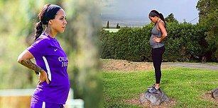 Kanadalı Kadın Futbolcu Sydney Leroux 5.5 Aylık Hamileyken Topbaşı Yaptı