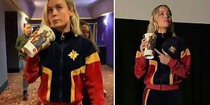 Captain Marvel'ın Yıldızı Brie Larson'dan Sinemada Filmi İzleyen Seyircilere Müthiş Sürpriz
