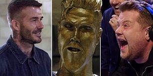 James Corden'dan David Beckham'a Efsane Heykel Şakası