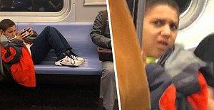 Metroda Ayaklarınızı Diğer Koltuklara Uzatarak Oturduysanız Eğer Artık Aklınıza Hep Bu Sahne Gelecek!