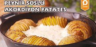 Patatesin En Eğlenceli Haline Bayılacaksınız! Peynir Soslu Akordiyon Patates Nasıl Yapılır?