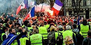 Gösterilerin 4'üncü Ayında Sarı Yelekliler Yine Sokaklarda: Paris'teki Protestolarda 192 Kişi Gözaltına Alındı