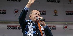Erdoğan'ın Mitinginde Çay Kavgası Çıktı: 'Ben Sizin Hepinize Çay Vereyim'