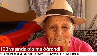 Hayatı Boyunca Çalıştığı İçin Okula Gidemeyen Adam 103 Yaşında Okuma-Yazma Öğrendi!