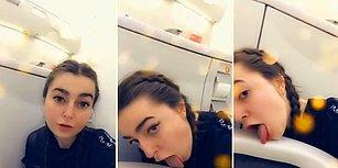 Uçağın Tuvaletini Yalayan Rahatsız Kadın