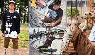 İki Bacağı Olmasa da Kaykayı ile Dizlerinin Üzerinde Harikalar Yaratan Akrobasi Tutkunu Ampute Genç