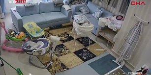 Tavanın Çökeceğini Fark Eden Dadının Bebeği Kurtararak Kahramanlaştığı Anlar!