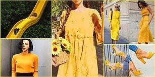 Güneşin ve Çiçeklerin Rengini Dolabınıza Ekleyin! Sarıyı Sevenler İçin Birbirinden Harika Kombin Önerileri