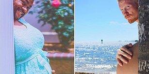 Hamilelik Fotoğraflarında Eğlenceli Yeni Trend: Kafa Babanın, Göbek Annenin Pozu!