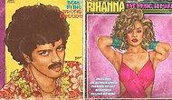 Görünce Bünyenizde Flash TV Etkisi Yaratacak Dünyaca Ünlü 17 Şarkıcının 80'ler Albüm Kapağı İllüstrasyonu