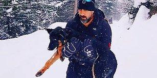 Donmak Üzereydi: Öğretmen Necmi Aksu Dağda Bulduğu Köpeği Kilometrelerce Taşıyıp Kurtardı