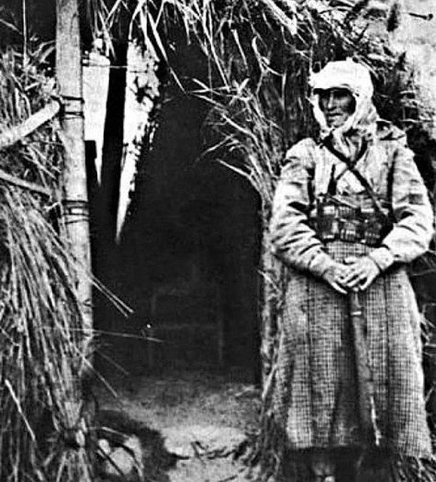 3. Kurtuluş Savaşında Fransızlara karşı mücadele eden kahraman Türk Kadını Rahmiye Hanım, Adana 1920.