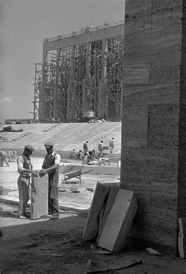 17. Anıtkabir inşaatı, Ankara 1951.