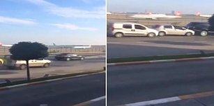 Atatürk Havalimanı'na İnen Son Uçakları Videoya Kaydetmek İsterken Kazaya Neden Olan Sürücü