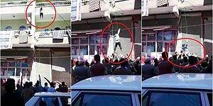 Şanlıurfa'da Balkondan Düşen Çocuğu Vatandaşlar Havada Yakaladı