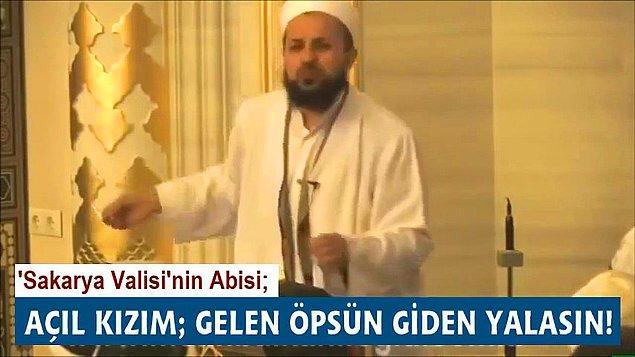 """3. Sakarya Valisi İrfan Balkanlıoğlu'nun """"Açıl kızım, gelen öpsün giden yalasın."""" cümlesi akıllara durgunluk vermişti."""