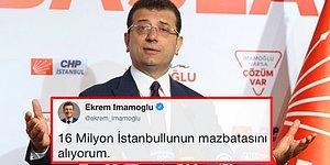 Ekrem İmamoğlu 16 Milyon İstanbullunun Mazbatasını Almaya Gidiyorum Dedi, Twitter Aşka Geldi!
