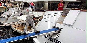 Spor Tarihinin En Alfa Hareketi: Kimi Raikkonen Arızalanan Aracını Bırakıp Yatına Giderek Şampanya İçiyor!