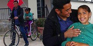 Engelli Kızının Bisiklete Binme Hayalini Kendi Tasarımıyla Gerçekleştiren Baba