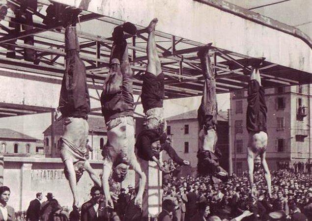 1945 - İtalyan diktatör Benito Mussolini ile metresi Clara Petacci kurşuna dizildi.