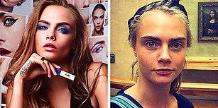 Kozmetik Markalarının Reklam Yüzleri Olan Ünlü İsimlerin Makyajsız Hallerini Görmüş müydünüz?