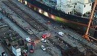 Tuzla Tersanesi'nde Halatı Kopan Vinç 20 Metreden Yere Düştü: 5 İşçi Yaralandı