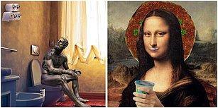 Görünce İnsanın Yüzünü Gülümsetecek Sanatsal Yanıyla Mizahi Yanının Yarıştığı Birbirinden Eğlenceli 17 Paylaşım